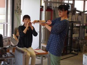 ガラスの抹茶茶碗作り体験